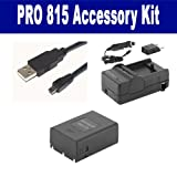 Samsung Pro 815 Digital Camera Accessory Kit includes: USB8PIN USB Cable, SDM-806 Charger, SDSLB1974 Battery