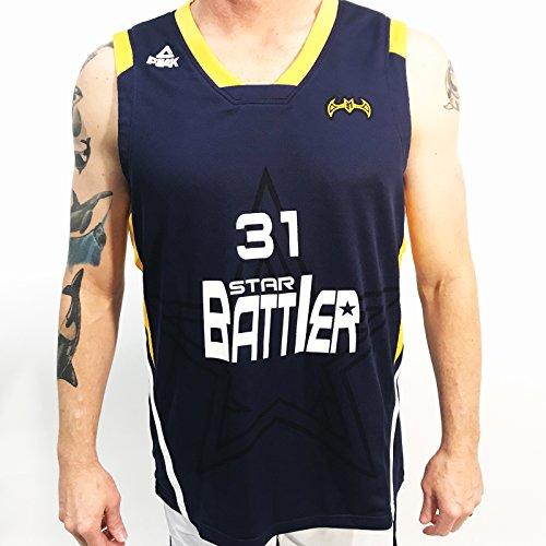 Wade D Jersey (Peak Men's Star Battier Match Basketball Jersey, Navy, X-Large)