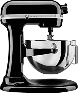 KitchenAid Professional 5 Plus Stand Mixer RKV25G0XOB, 5-Quart, Onyx Black, (Renewed)
