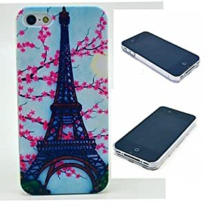 LCJ Paris Eiffel Tower Pattern Hard Case for iPhone 4/4S