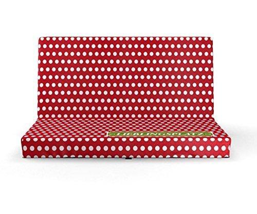 Sitzkissen faltbar/klappbar, Motiv Lieblingsplatz Rot, Maße: 33 cm x 29,5 cm x 3,3 cm