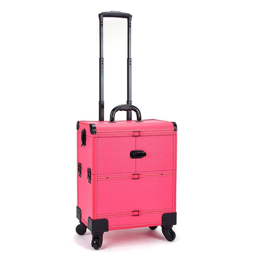 非常に高い品質 化粧オーガナイザーバッグ 多機能360度車輪3イン1プロフェッショナルアルミアーティストローリングトロリーメイクトレインケース化粧品オーガナイザー収納ボックス 化粧品ケース (色 : : ブラック) ブラック) (色 B07Q4HB8QS ピンク ピンク, フェアリーベル:4cb76b7b --- a-school-a-park.ca