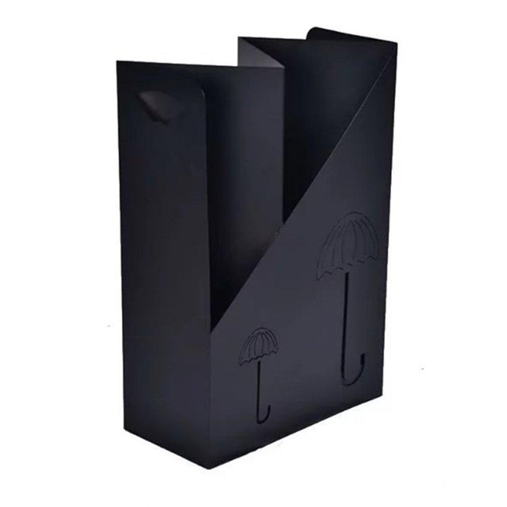 ZXQZ 傘スタンド/傘収納桶/傘収納棚/傘表示装飾スタンド/20 * 40 * 60CM 雨の傘の収納ラック (色 : ブラック) B07CVR49N2 ブラック ブラック