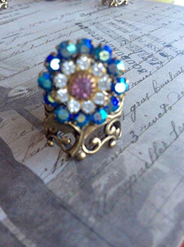 Handmade Swarovski Crystal Cocktail Ring ()