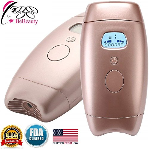 New Revolution at Home Use IPL Permanent Laser Hair Removal for 500,000 Flashes, LCD Epilator Electric 7-Speed Adjustment Automatic Sensing Pulsed Light Hair Painless for Body and Face (FDA Cleared)
