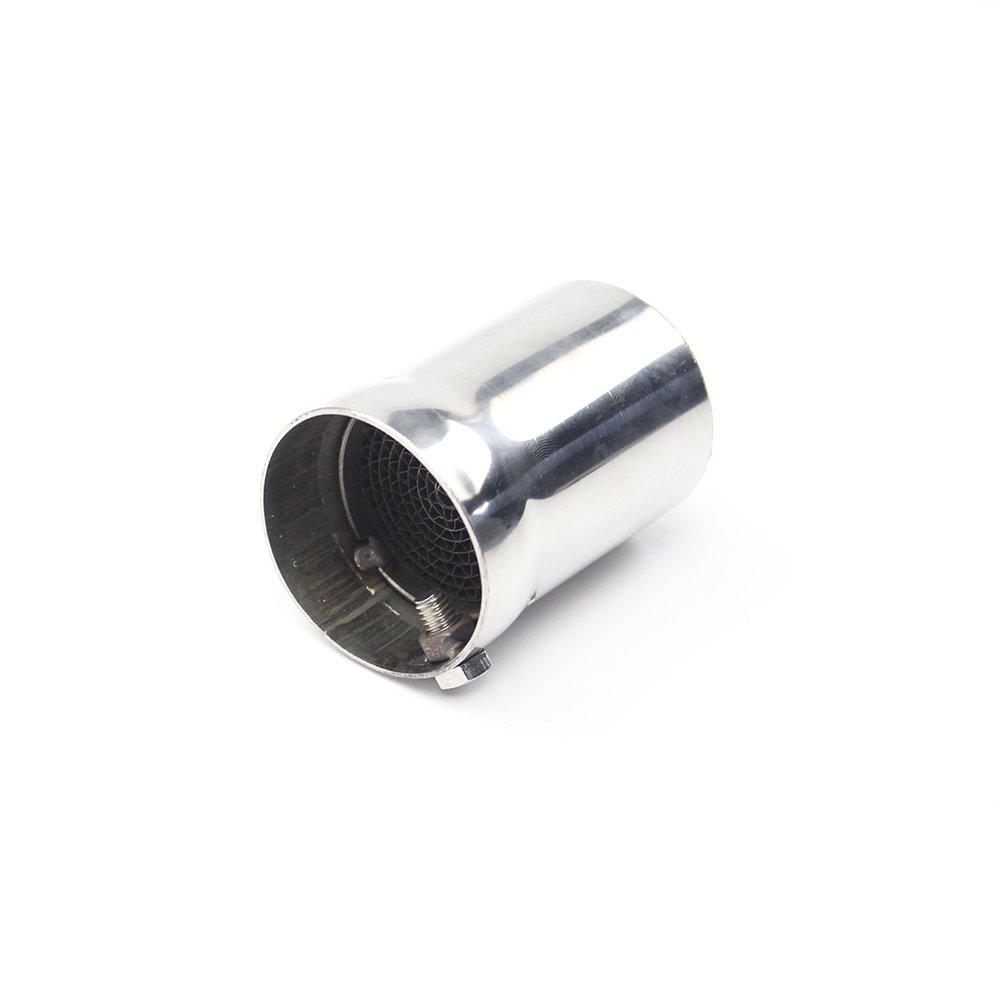 Tubo di scarico Jfgracing Baffte 4, 8 cm diametro x 6, 6 cm lunghezza acciaio INOX silenziatore di scarico universale moto inserto dB Killer silenziatore con vite regolabile 8cm diametro x 6