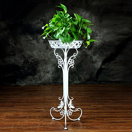 Iron Art FlowerPot Stands,1 Pots Planter Holder,Elegant Design Floor Shelf,Indoor Outdoor Garden Patio Plant Bonsai Decorative Display Flower Rack
