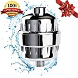 10 Stage Shower Water Filter For Shower Head - by (AQUALINA) Healthy Hair and Skin - Universal High Pressure Output - Removes Water and Chlorine Impurities - Shower Head Softner -