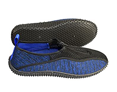 062fdedb1b1bcd Peach Couture Mens Athletic Water Shoes Slip On Quick Drying Aqua Socks  Large, Blue Black