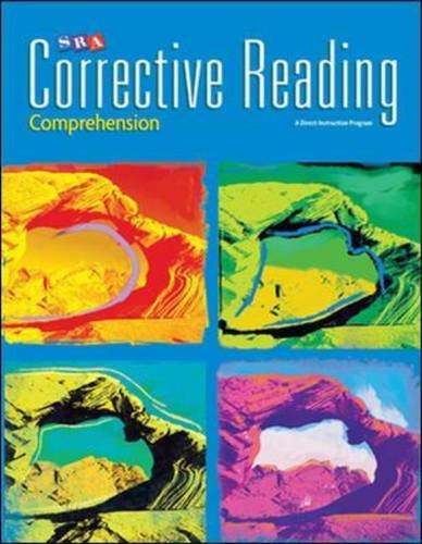 SRA CORRECTIVE READING COMPREHENSION C - STUDENT WORKBOOK