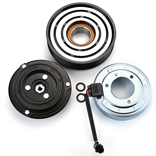 Front Clutch Pulley (2008-2013 NISSAN ROGUE L4 2.5L A/C AC COMPRESSOR CLUTCH KIT (PULLEY, BEARING, COIL,)