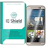 HTC One M9 Screen Protector, IQ Shield Tempered Ballistic Glass Screen Protector for HTC One M9 99.9% Transparent HD and Anti-Bubble Shield - with