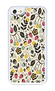 Apple Iphone 5C Case,WENJORS Adorable Very Berry Soft Case Protective Shell Cell Phone Cover For Apple Iphone 5C - Hard White