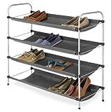 Whitmor 4-Tier Fabric Closet Shoe Shelves