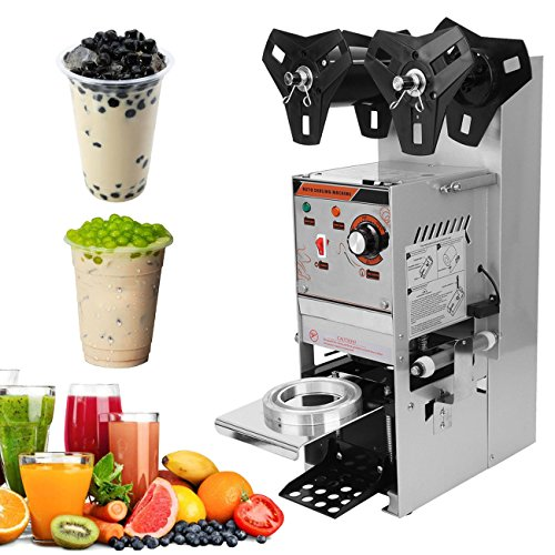 - Ridgeyard 350W Semi Automatic Tea Cup Sealing Machine 300-500 cups/hr Commercial for Bubble Boba Milk Tea Coffee Smoothies Sealer