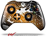 Halftone Splatter White Orange – Decal Style Skin fits Microsoft XBOX One Wireless Controller (CONTROLLER NOT INCLUDED)