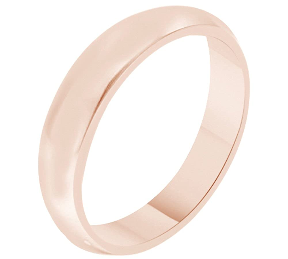 Solid 10k Gold 5MM Comfort Fit Men & Women Wedding Band Ring Jewel Zone US Mno-MMR175-JZ