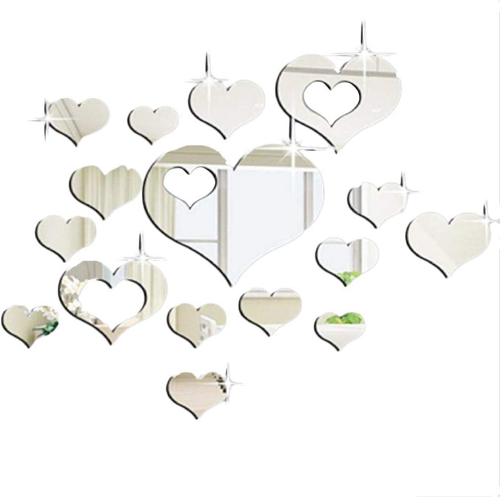 JiaMeng Pegatina de Pared, Elegante Hoja desprendible 3D Love Etiqueta de la Pared calcomanías de Vinilo de Arte decoración del Dormitorio (A, tamaño ...