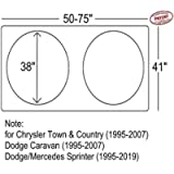 A1+Shades Windshield Shade Compatible with Chrysler Town and Country (1995-2007) Dodge Caravan (1995-2007) Sprinter…
