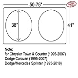 Chrysler Town & and Country Dodge Caravan (1995-2007) Sprinter (1995-2019) Commercial Van Windshield Sun Shade 3-XL