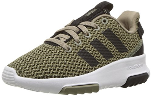 Image of adidas Kids CF Racer TR Running Shoe, Trace Olive/Black/Trace Cargo, 1.5 M US Big Kid