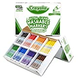 Crayola Bulk Broad Line Washable Markers, School Supplies Classpack, 200 Count