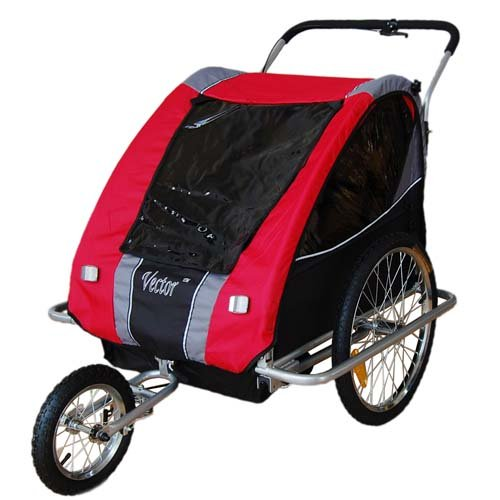 VECTOR Children Bicycle Trailer & Jogger Combo Red 3130801