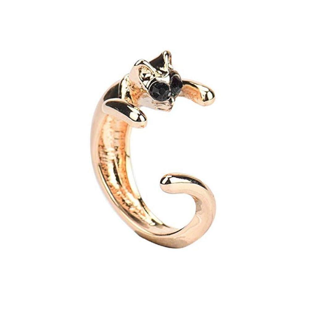 Scpink Anillos para gatos, lindo gato con diamantes de imitación anillos ajustables regalo de joyería (B): Amazon.es: Bricolaje y herramientas