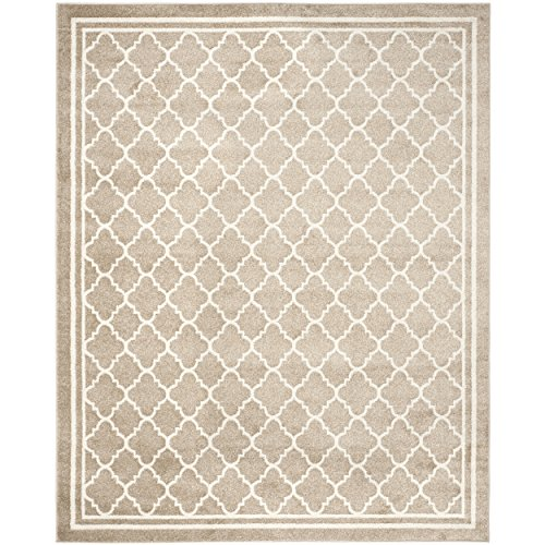 Safavieh Amherst Collection AMT422S Wheat and Beige Indoor/ Outdoor Area Rug (10' x 14') (Rugs Area 14 10 X)