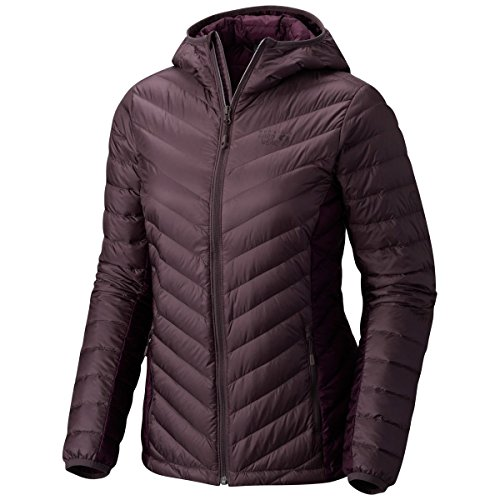 Ripstop Hooded Down Jacket (Mountain Hardwear Women's Micro Ratio Hooded Down Jacket Purple Sage X-Small)