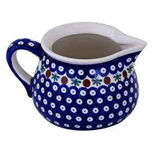 Boleslawiec Pottery Milk jug, 1.0 L, Original Bunzlauer Keramik, Decor 41