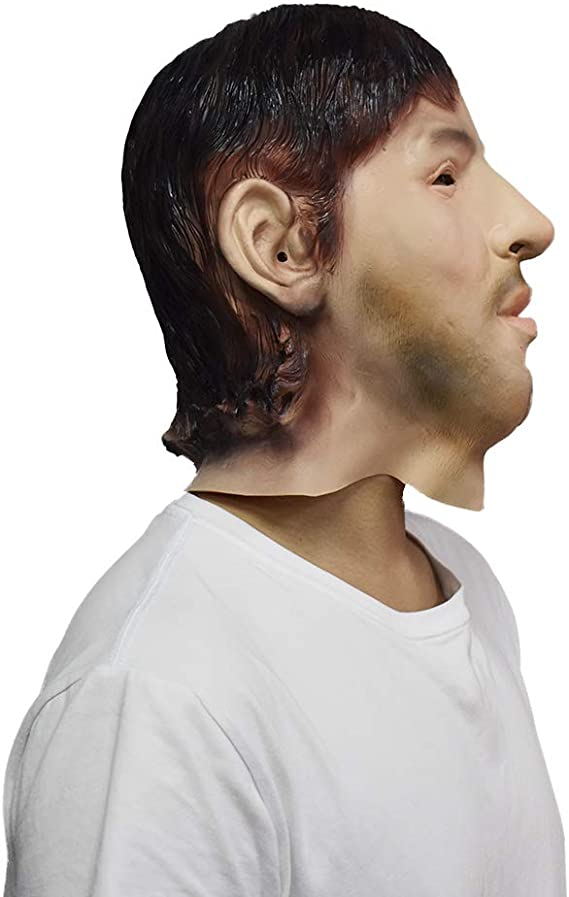DMZing Latex Realistic Male Head Masks Human Look Halloween Cosplay Costumes A