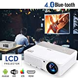 EUG Projector 3600 Lumen Video Projectors with Bluetooth Android 1280800 Native Support 1080P