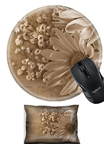 Liili Mouse Wrist Daisy bouquet in sepia and textured layers with music Photo 5844149