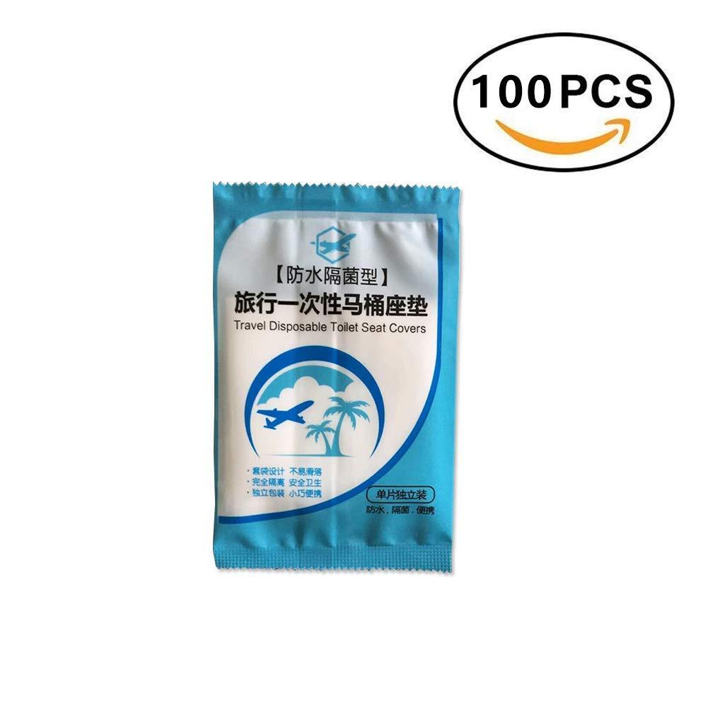 Si/ège De Toilette Jetable,Imperm/éable,Antibact/érien,Portable Pour Voyager//Enceinte,100 Envelopp/é Individuellement