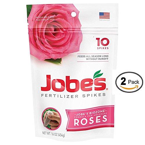 Jobe's Fertilizer Spikes for Roses ◦ 10 Spikes ● 2 Packs