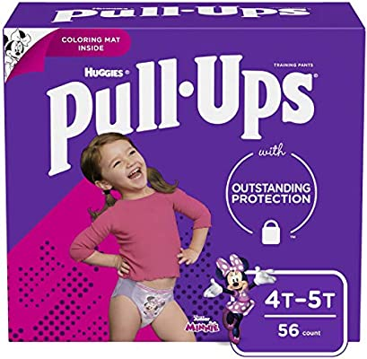 38-50 lbs. 56 Count Toddler Potty Training Underwear 4T-5T Packaging May Vary Pull-Ups Learning Designs Training Pants for Girls