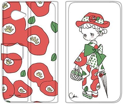 WHITENUTS Caho AQUOS SERIE mini SHV38 ケース 手帳型 薄型プリント手帳 着物と花C (ch