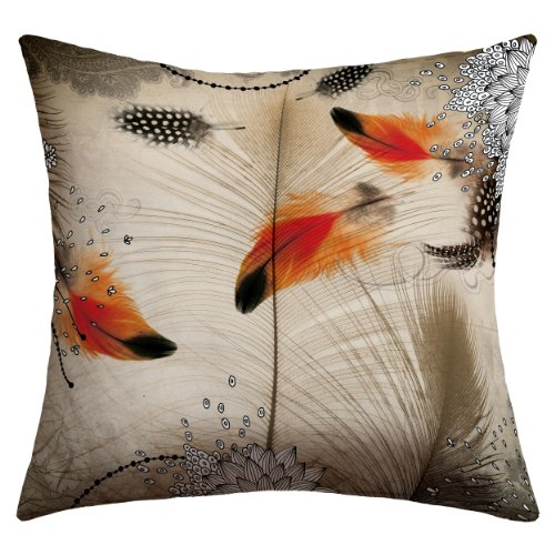 Deny Designs Iveta Abolina Feather Dance Outdoor Throw Pillow, 20 x 20 by Deny Designs