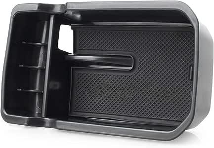 MALLOFUSA Interior Car Center Console Armrest Storage Organizer Holder Tray Box Compatible for Ford Explorer 2013-2018