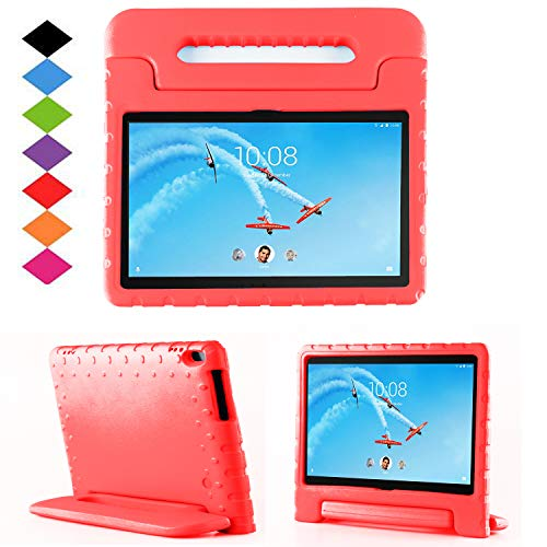 TIRIN Lenovo TAB 4 10 Plus Case- Light Weight EVA Shock Proof Convertible Handle Stand Case Cover for Lenovo TAB 4 10 Plus 2017 Tablet(TB-X704F/N)(NOT fit Lenovo TAB 4 10 Tablet TB-X304F/N), Red