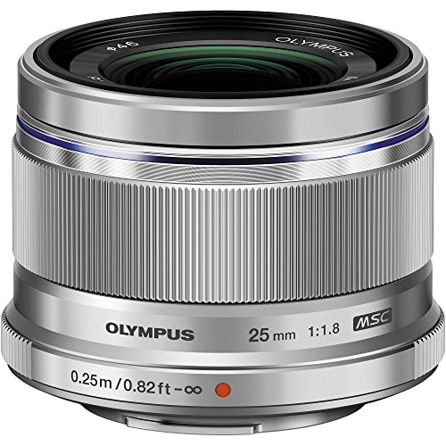 Olympus M.Zuiko Digital 25mm F1.8 Lens, for Micro Four Thirds Cameras (Silver)