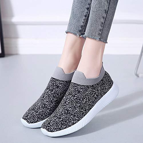 Mou Femme 2019 Plein Chaussures Femmes Nouveau Air Fond Chaussure Jogging Sneakers Été Printemps De Maille Respirant Sonnena Gris Plates Baskets Sport OBza4d
