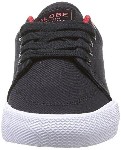 Globe GS - Zapatillas de Deporte de Material sintético para Niña Negro Noir (10036 Black/Red) 33.5 RvdRp2UE