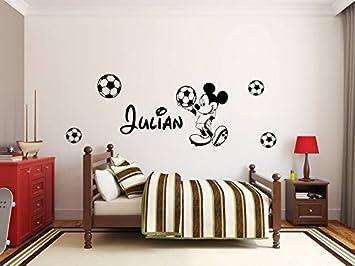 Autocollant Mural Personnalisé Avec Le Nom De Mickey Moouse. Décoration  Murale Avec Le Nom D