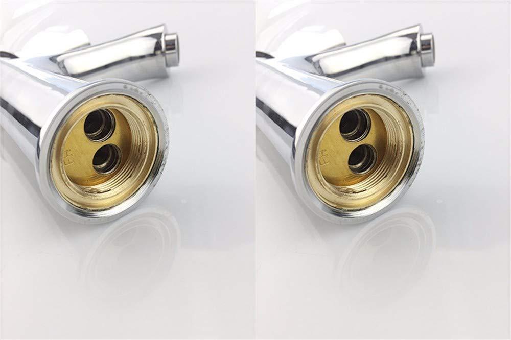 QWL-Faucet Grifo de de de Lavabo Caliente y frío con Base de Cobre Grifo de Lavabo Monomando con un Solo Orificio, Plateado Grifo de Lavabo baño Grifo del Fregadero bd5c7c