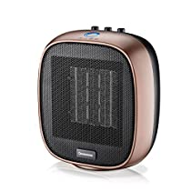 Ceramic heater,Electric heater Oscillation Adjustable Thermostat Tabletop Under-Desk Black Remote control Household use Bathroom Save energy 1Second speed heat-B