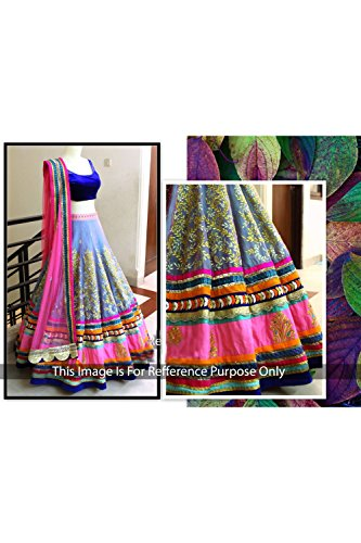 Da Facioun Designer MULTI VELVET,SILK Bollywood Replica Lehenga Choli T1039