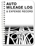 """BookFactory Auto Mileage Log Book / Automobile Expense Record Notebook - 124 Pages - 5"""" X 7"""" Wire-O (LOG-126-57CW-A(MILEAGE))"""