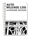 "BookFactory Auto Mileage Log Book / Automobile Expense Record Notebook - 124 Pages - 5"" X 7"" Wire-O (LOG-126-57CW-A(MILEAGE))"